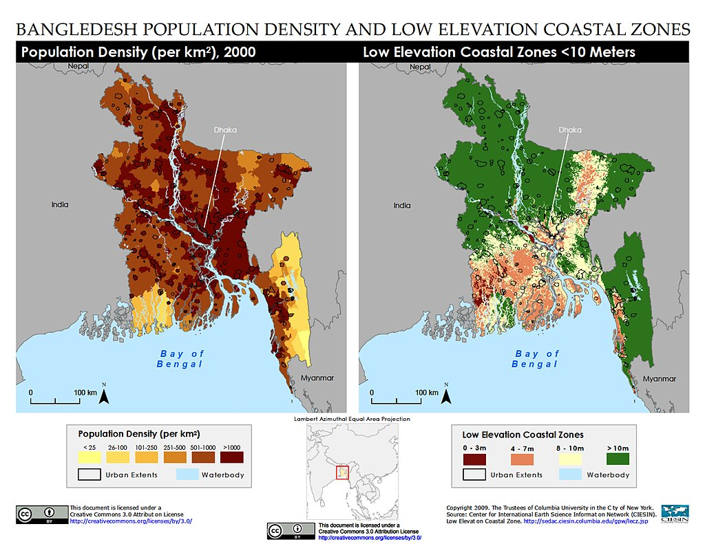 Maps Low Elevation Coastal Zone Lecz