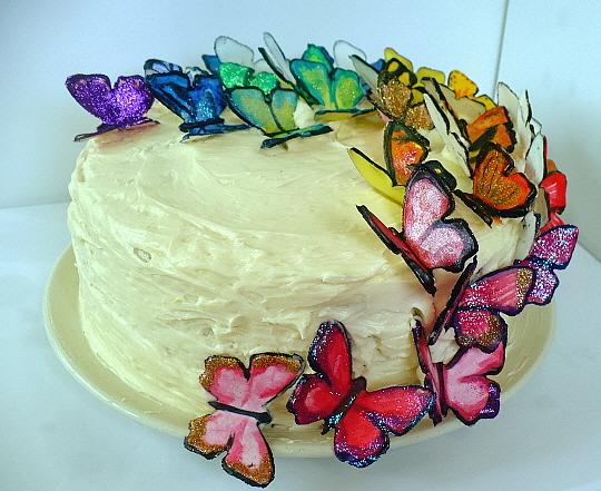 Lemon Blueberry Butterfly Cake Clockwork Lemon