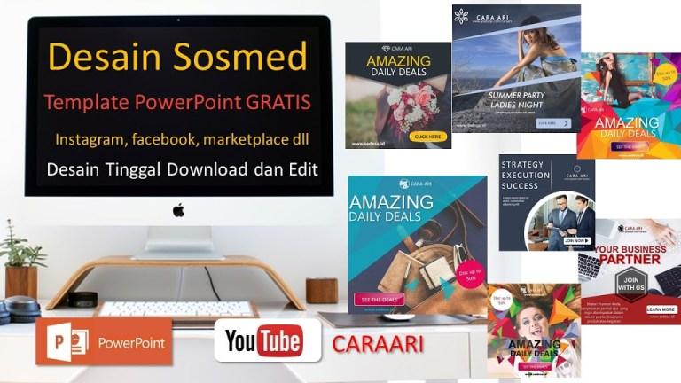 Download Desain Powerpoint untuk jualan Gratis