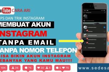 Cara Membuat Instagram Tanpa Email dan Nomor Telepon