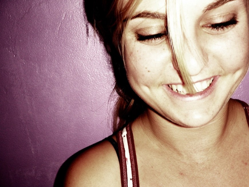 Teen therapy smiling girl