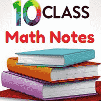 Download 10th Class Math General Solved Notes Unit 4