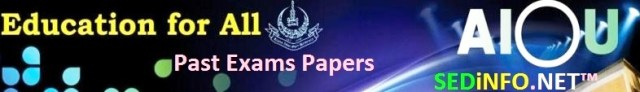 BA AIOU Code 458 Past Papers