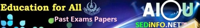 AIOU BEd Past Papers Code 8612