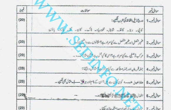 Code 246 Matric AIOU Past Papers S2012