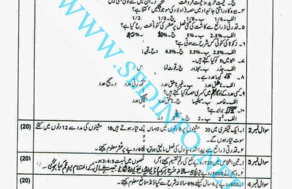 Code 247 Matric AIOU Past Papers A2014