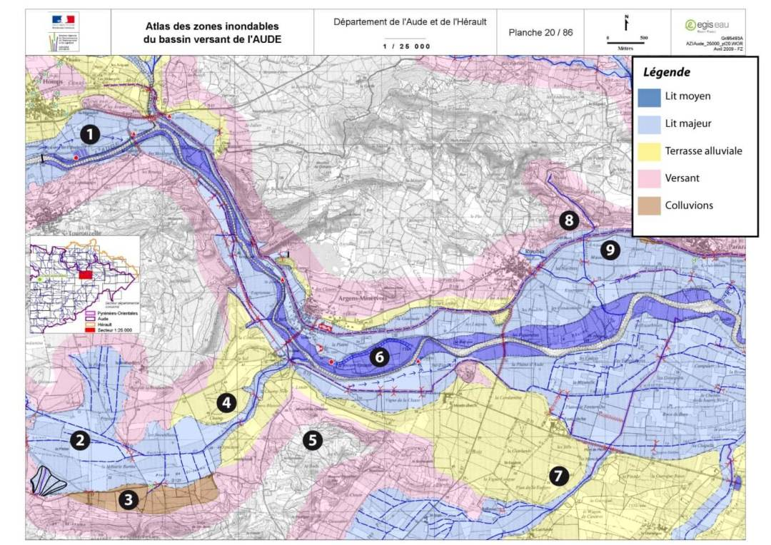 Atlas des inondations du bassin versant de l'aude