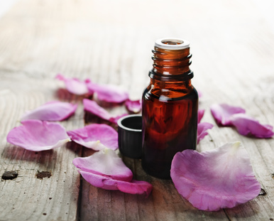 Rose Essential Oil: Photo Credit, Fotolia