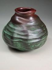 Waves high fire ceramics by Luke Metz in Sedona, Arizona