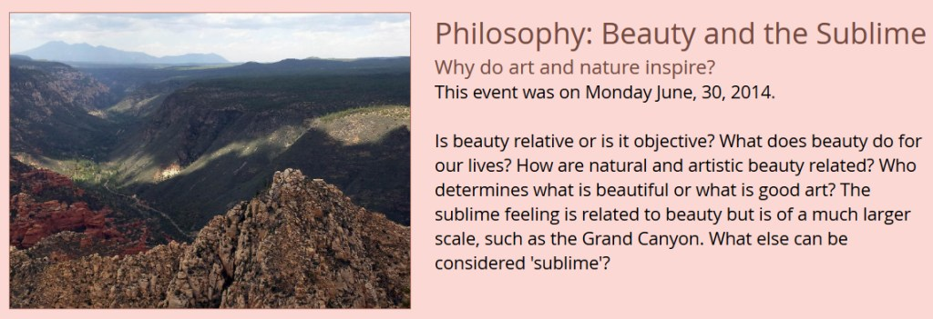 Philosophy - Beauty and the Sublime