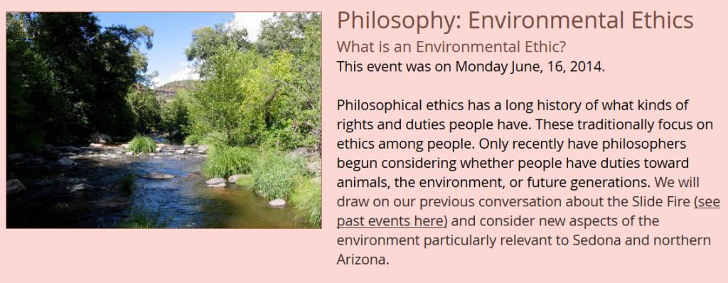 Philosophy - Environmental Ethics