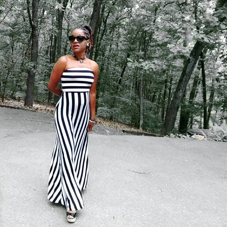 Strapless Striped Maxi | Sedruola Maruska
