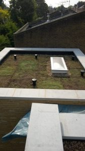 South London Sedum Green Roof ready to lay