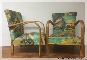 Coppia poltrone anni 50 - 1950s armchairs, a pair