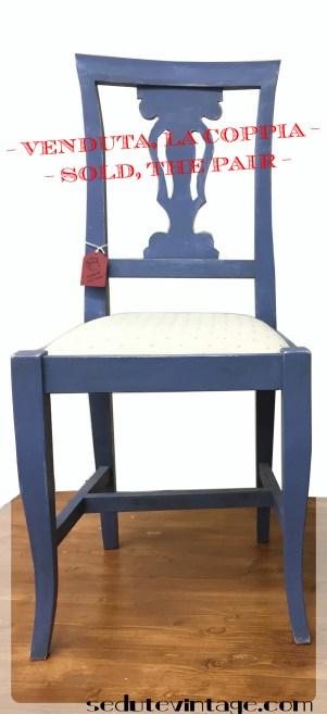 Sedie da sala, coppia - Dining chairs, pair