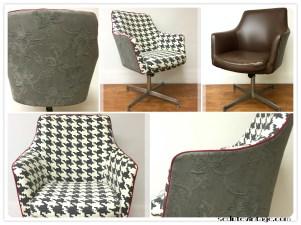 Poltrona ufficio anni 70 - 1070s swivel desk armchair