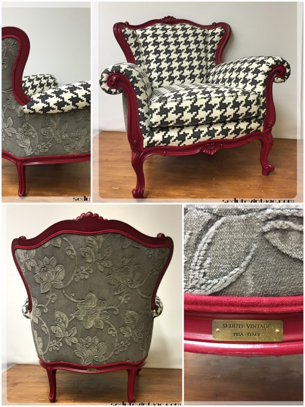 Pied de poule e rose - Houndstooth and roses