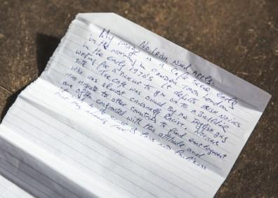 18 Ronnie Fitzgerald handwriting