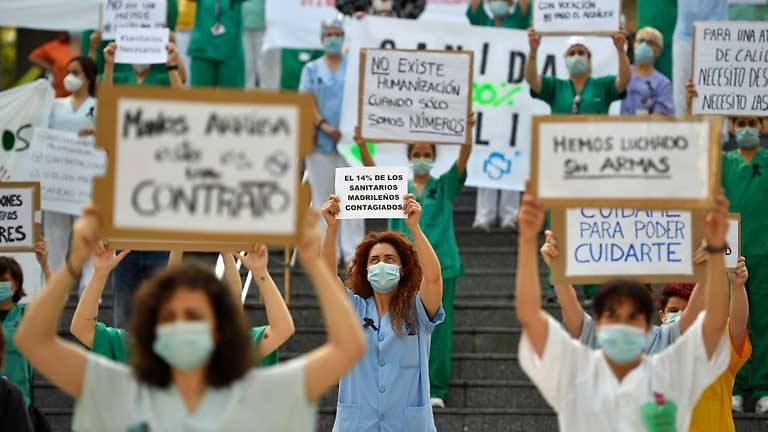 Coronavirus: Spain Doctors Protest At Shortages