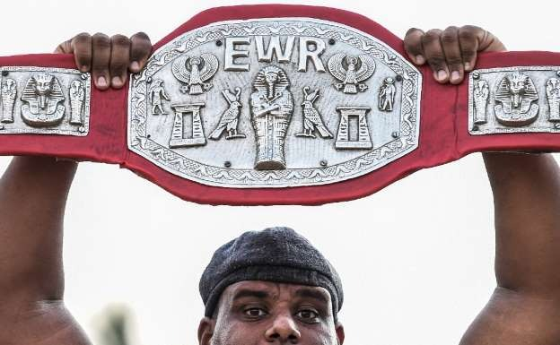 One of EWR championships' belts