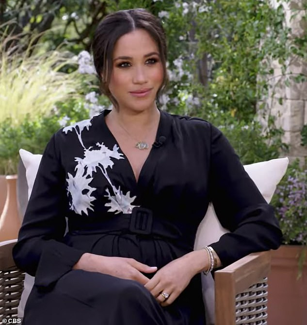 Meghan Markle during the interview