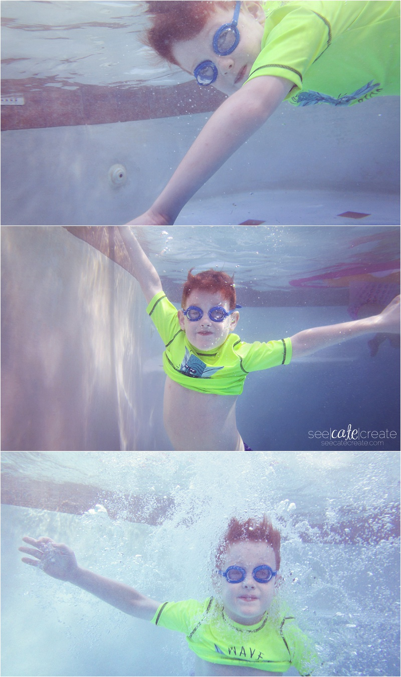 underwater kid photo