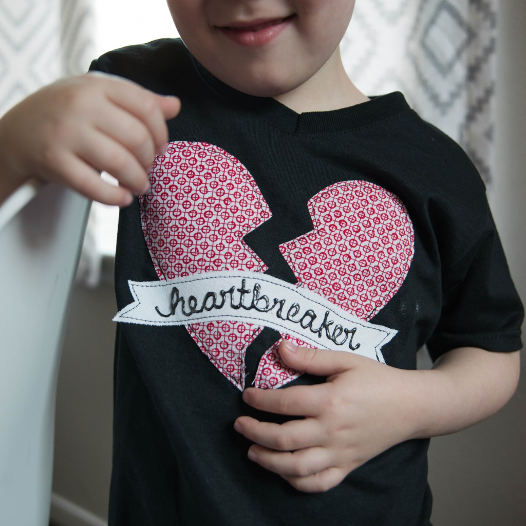 DIY Applique Heartbreaker T-shirts 18 see|cate|create