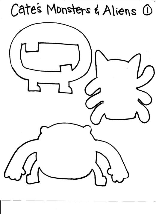 Monster and Alien Puppet Template 1