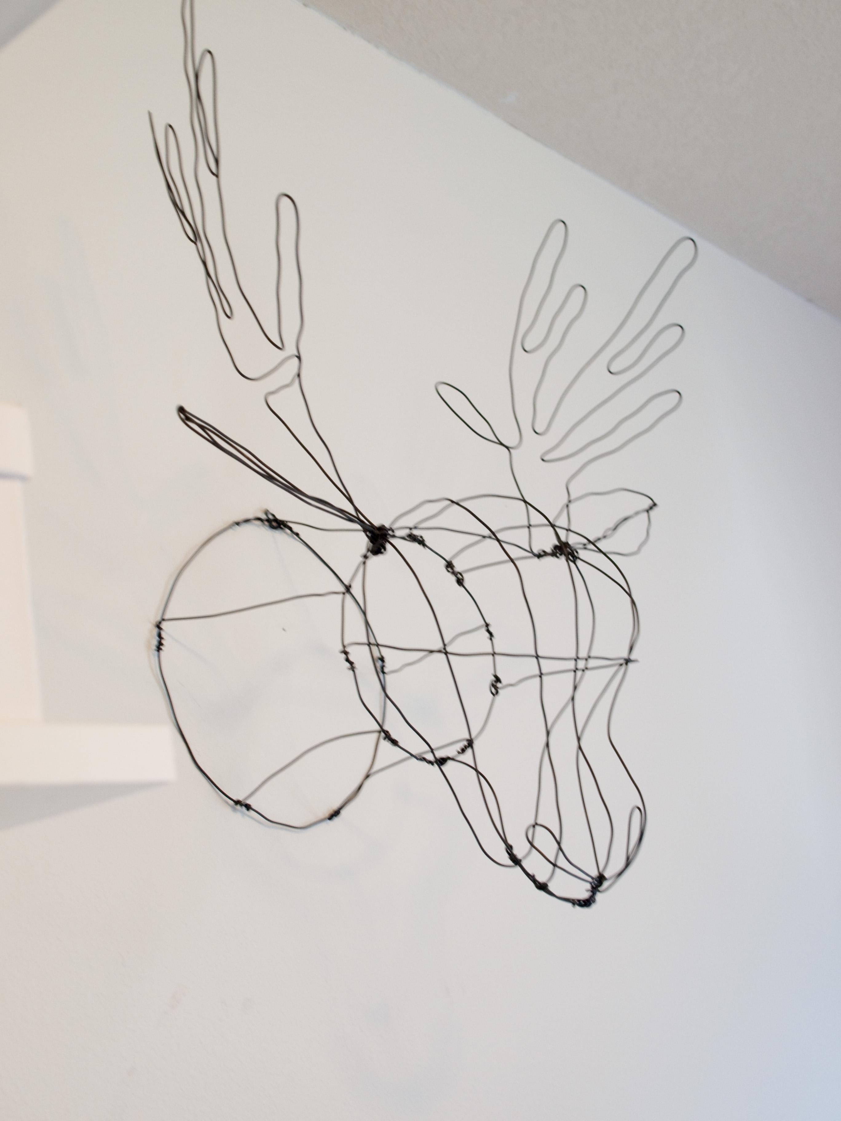Wire deer head diy faux taxidermy seecatecreate what solutioingenieria Gallery