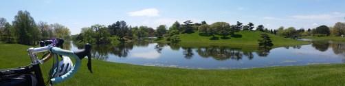 japanese style landscape island @chicago botanic gardens