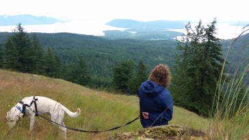 Great views on Mount Constitution with this old friend, and Jacobie!