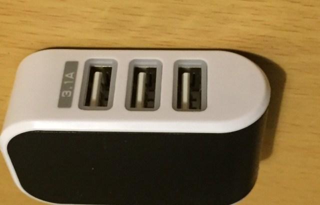 Wishで購入した113円のUSB3口電源アダプタを電流チェック!Apple純正アダプタと比較してみる。