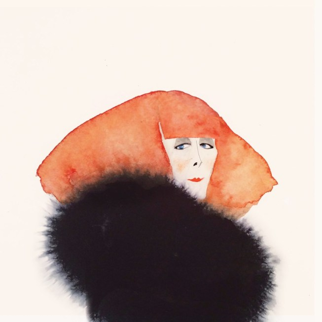 Sonia Rykiel illustration by Ryan McAmis