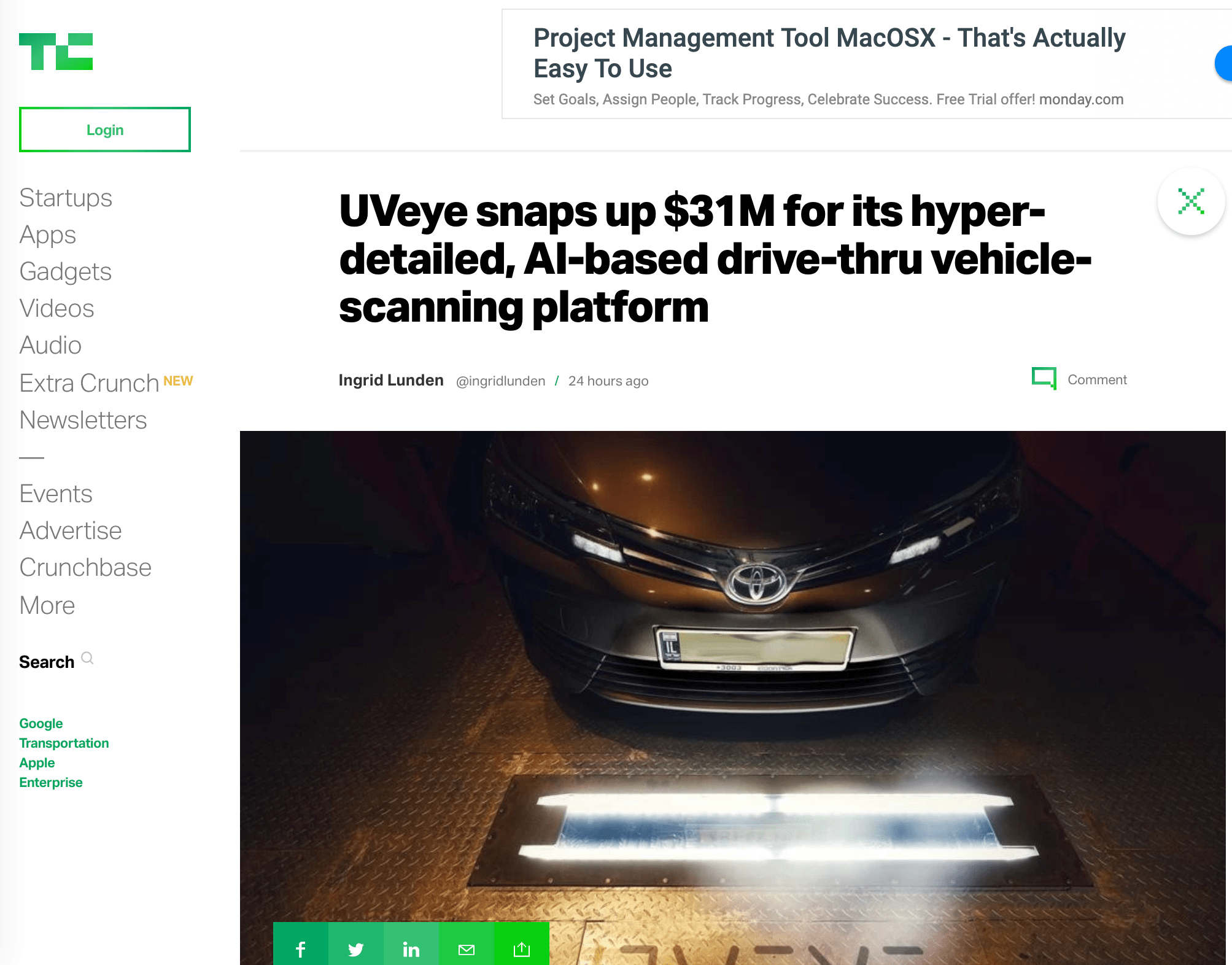 UVeye snaps up $31M for its hyper-detailed, AI-based drive-thru vehicle-scanning platform