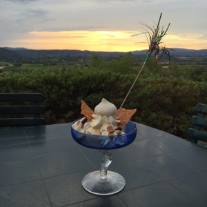 Which is better? The view or the ice-cream?!