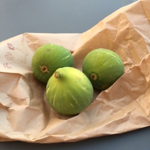 Still life of perfectly ripe figs