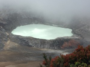 At the crater of Paos volcano.