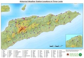 Historical weather station locations in Timor-Leste