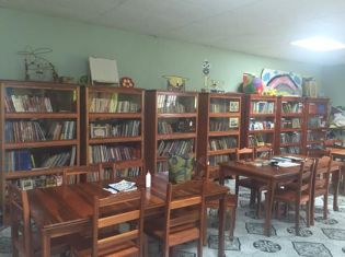 The library in La Union that we provided the books for.