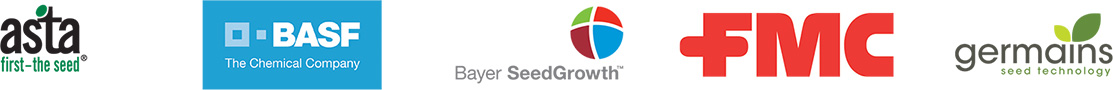 asta, BASF, Bayer SeedGrowth, FMC and germains logos