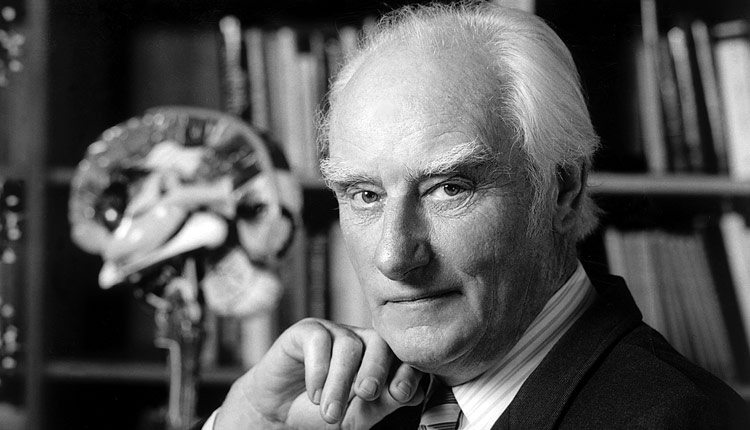 Francis Crick in partnership James Watson and others, unlocked the keys to understanding DNA. Photo: Marc Lieberman.