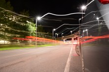 Light Trails at Airport Arrivals