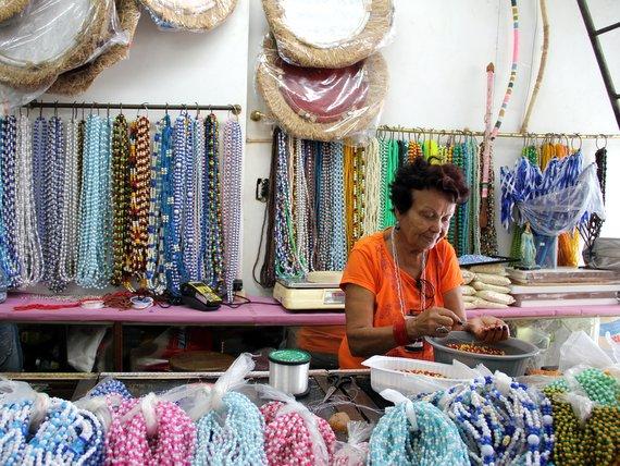 Carnival bead shop in brazil