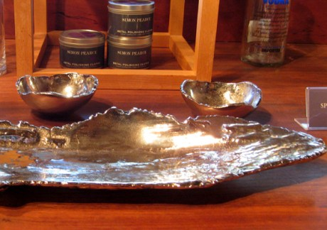 unique silver serving bowls