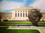 The Celestial Sphere Woodrow Wilson Memorial outside of the Palais des Nations