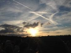 Sun down, tent up. Leeds Festival 2016