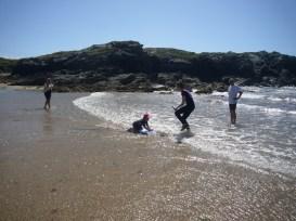 Avoid the jellyfish, avoid the jellyfish. Anglesey, UK 2015