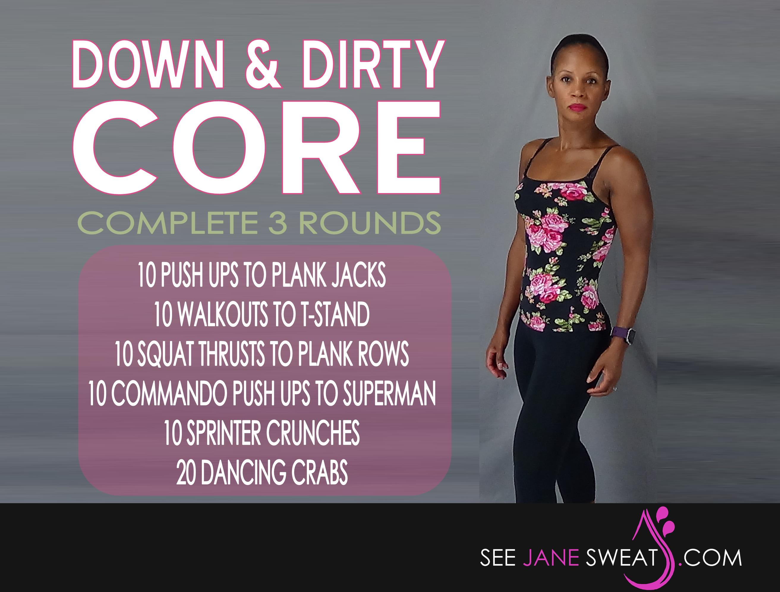 Down and Dirty Core Workout