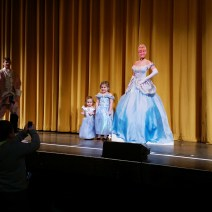 A princess parade...with a life-sized cardboard cut-out of Cinderella.  MIGHT be a little creepy...