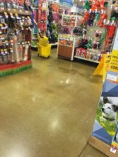 """""""Um, Evelyn we have a clean up in Aisle 4."""""""